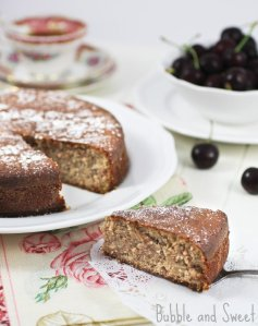 Looking for something different this Christmas?  Why not try a delicious flour-less Cranberry Nut Christmas Cake from Bubble and Sweet!